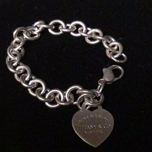 Tiffany Sterling Heart Charm Bracelet
